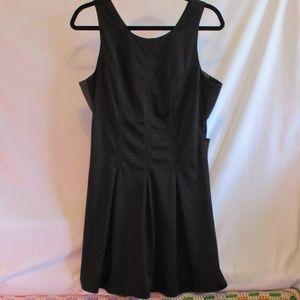 New Satin & Leather Cut-Out Mini Dress